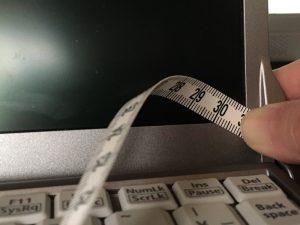 Panasonic CF-S9のインチ数測定